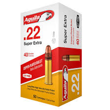 ** SPRING  SUPER  SALE ** Aguila Super Extra High Velocity, 200 Round Value Pack - 22LR - 40 Grain - Copper Plated Solid Point ** LIMITED QUANTITY - GOING FAST!! **