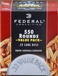 ** IN STOCK NOW ** Federal Red +CHAMPION+- 22LR - 36 Grain - Copper Plated Hollow Point 550 Round Value Pack ** ONLY 3 LEFT IN STOCK NOW **