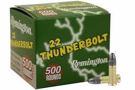 ** SPRING SUPER SALE ** Remington Thunderbolt, 500 Round Value Pack -.22LR - 40 Grain - LRN ** UNLIMITED BOXES - GOING FAST!! **